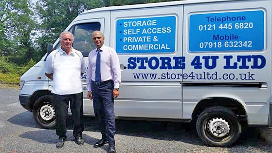 Henry Woolridge of Store4u Container and Caravan Storage, Redditch